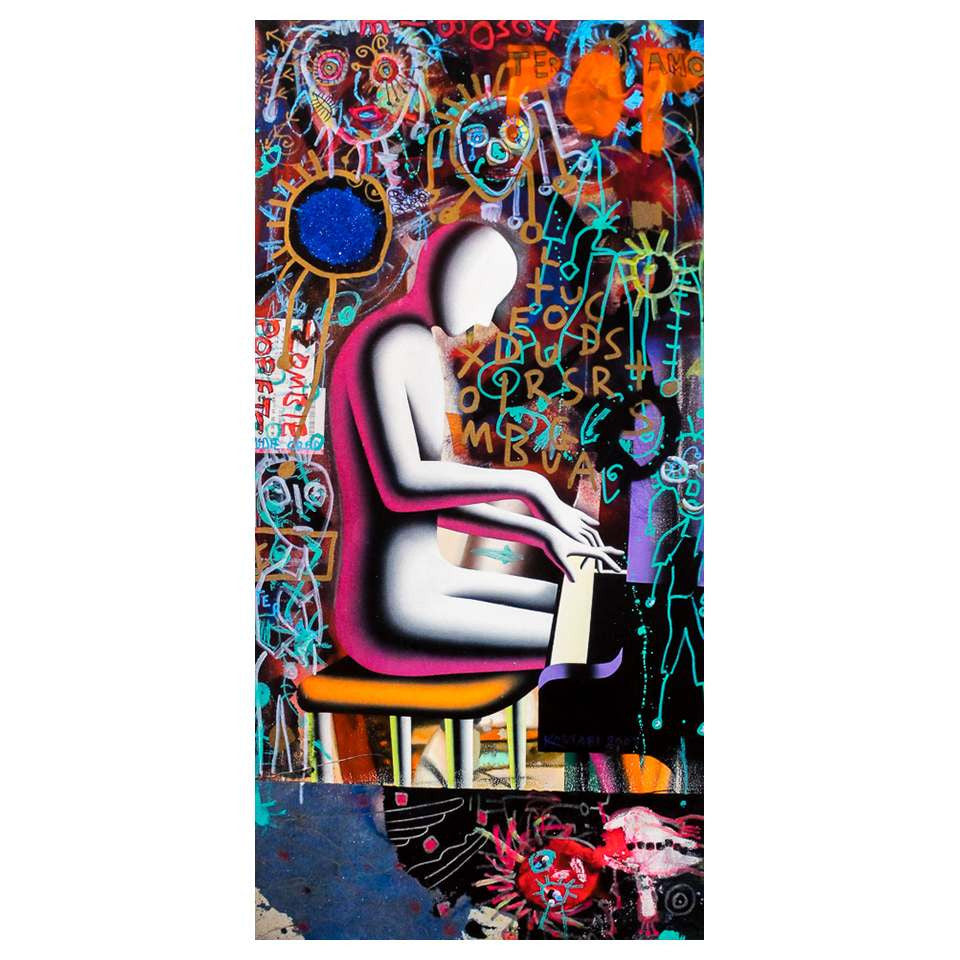 Mark & Paul Kostabi - Playing under Supervision - 2013 - Giclée