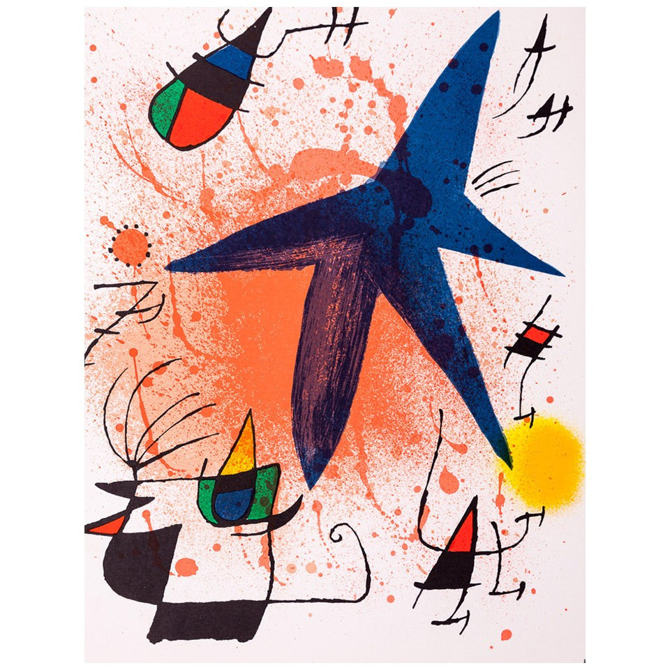 Joan Miró - Litografia original I - Surrealism - Art