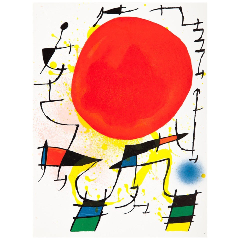 Joan Miró - Litografia original III - Surrealism - Art