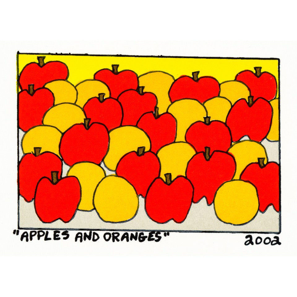 'Apples and Oranges' (2002) by James Rizzi - Artwrks  - 1