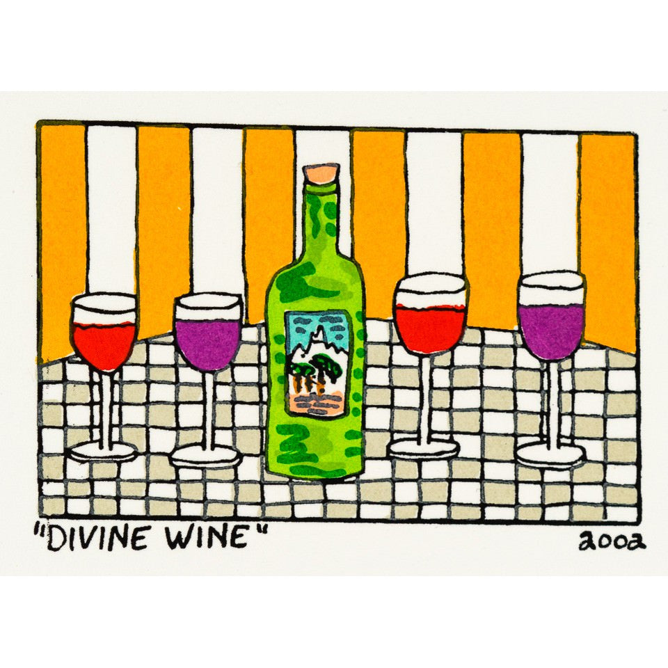 Divine Wine - James Rizzi - Artist - Artwork