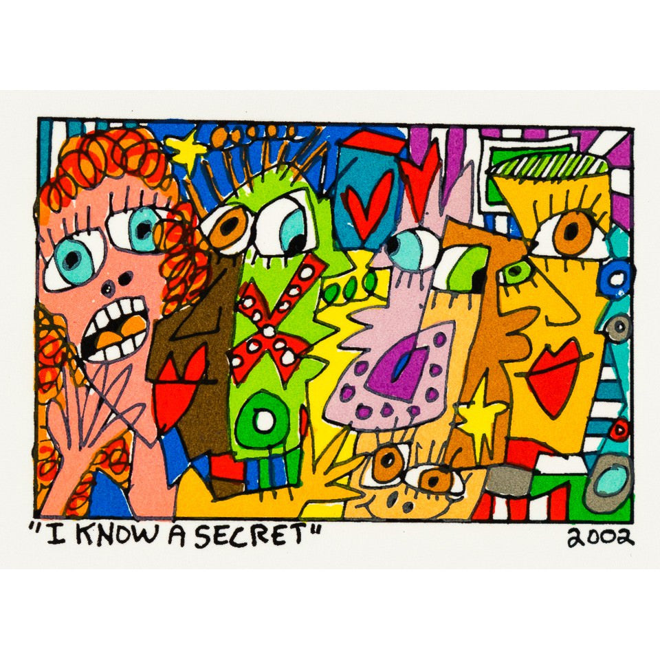 I Know A Secret - James Rizzi - Artist - Artwork