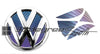 Chameleon Effect Volkswagen Rear Emblem Decal Inserts