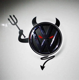 VW Devil Emblem Sticker