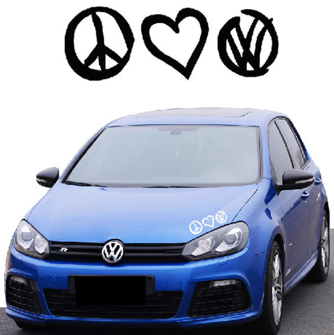 Peace Love VDub Sticker
