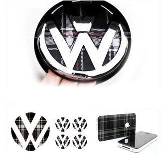 VW Golf GTI Plaid Print Stickers Series
