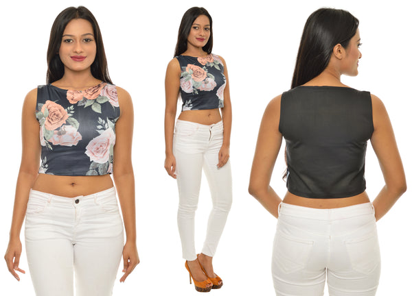 Rose Printed CropTop