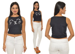 Cat Face CropTop