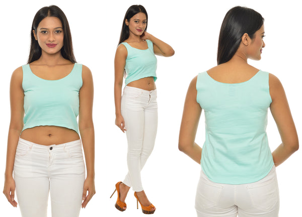 Mint Green Solid CropTop