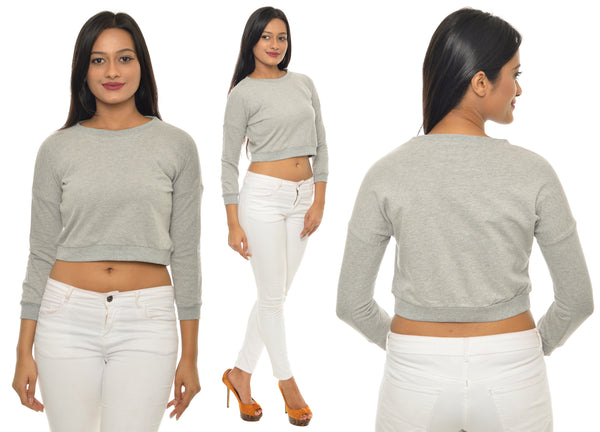 Grey Melange Croptop