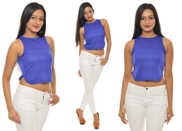 Solid Blue CropTop