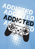 Addicted to Gaming Blue Men's T-shirt