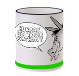 Hurray Bday Mug with Dog Handle