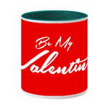 Valentines Day Inside Dark Green Color Mug