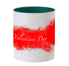 Valentines Day Special Dark Green color mug
