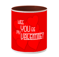 Be Valentine Inside Maroon color Mug