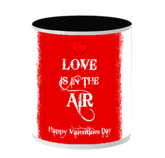 Happy Valetine Day Inside Black color mug