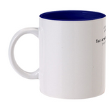 Happy Valetine Day Inside Blue color mug