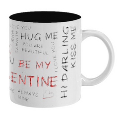 Valentines Day Inside Black Color Mug