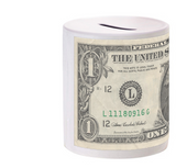 Dollar Print Coin Bank
