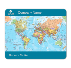 World Map Print Mouse Pad