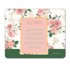 Floral Birthday Mouse Pad