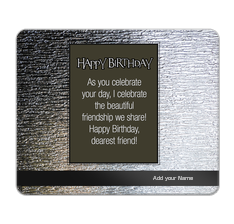Metalic Birthday Mouse Pad