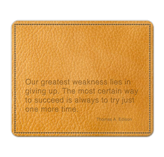 Thomas Edison Quote Mouse Pad