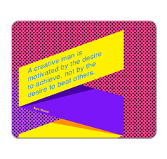 Creative Motivation Mouse Pad