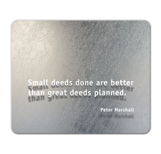 Peter Marshall Quote Mouse Pad