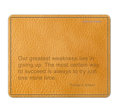 Inspirational Quote Mouse Pad