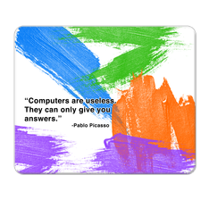 Picasso's Quote Mouse Pad