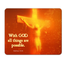 With GOD! Mouse Pad