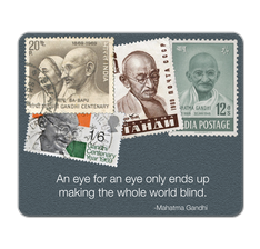 Mahatma Gandhi's quote Mouse Pad