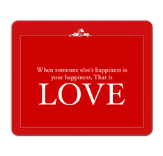 Love Quote Mouse Pad