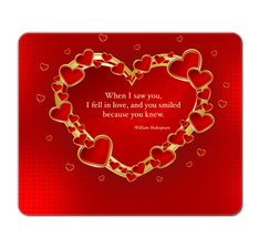William Shakespeare Love Quote Mouse Pad