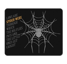 Law Spider Web Mouse Pad