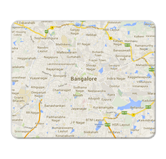 Bangalore Map Mouse Pad