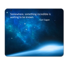 Carl Sagan Quote Mouse Pad