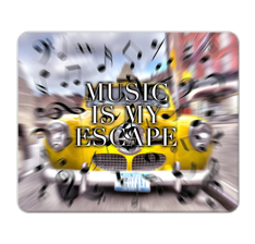 Music is my Escape Mouse Pad