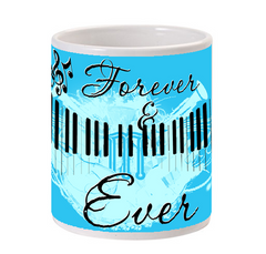 Forever and Ever Music Photo Mug