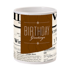 Birthday Greetings Gift Mug