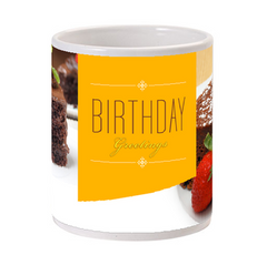 Birthday Cake Greetings Cup