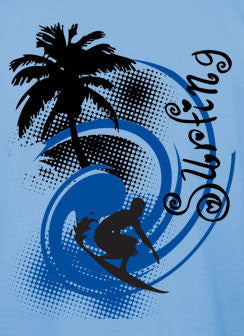 Surfing Blue Men's T-shirt