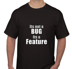 It's Not a Bug Black Men's T-shirt