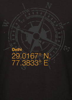 Delhi Black Men's T-shirt