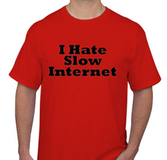 I Hate Slow Internet Red Men's T-shirt