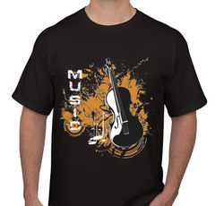 Music Black Men's T-shirt