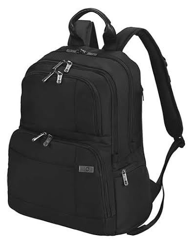 A Customised laptop backpack with an additional padding for increased comfort and security. Angular slash pockets on the side, High on durability and sturdiness since the Outer fabric is 100% polyester, Lining is 100% polyester and Inside padding is 100% Nylon.  Customise your logo embroidery Backpack here