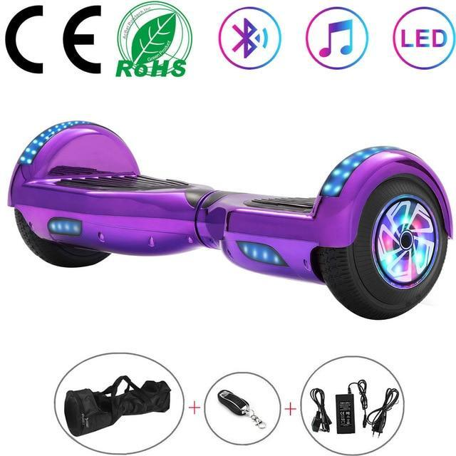Blue Hoverboard with Lights - Sam's Hoverboard